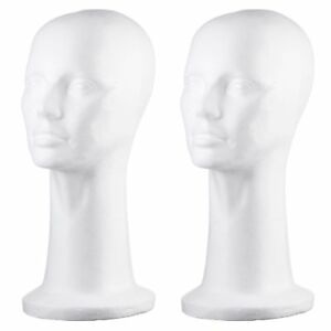 Dini Wigs Styrofoam Display Mannequin Head 15 Inch For Wigs Hair Pieces New