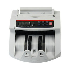 Led Money Bill Counter Counting Machine Counterfeit Detector Uv Mg Cash Us Stock