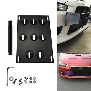 Bumper Tow Hook License Plate Mounting Bracket Fit Volkswagen Golf Gti Mk7 15 Up