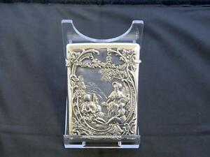Antique Late Victorian Silver Card Case London Gibson Langman Circa 1897