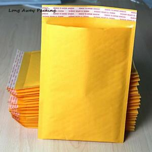 20pcs Yellow Kraft Bags Bubble Mailers Padded Envelopes Paper Mailer Bag