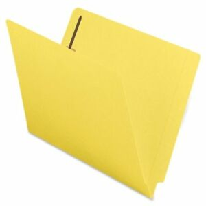 Smead 25940 Yellow End Tab Colored Fastener File Folders With smd25940