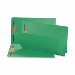 Smead 28140 Green End Tab Colored Fastener File Folders With smd28140