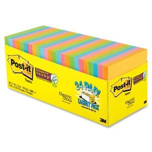 Post it Super Sticky Notes 24 Pad Cabinet Pack Self adhesive 65424ssancp
