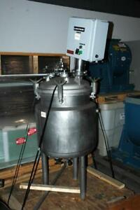 Precision 100 L Jacketed 316l Stainless Steel Tank Vessel Reactor W Agitator