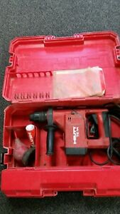 Hilti Te 14 Electric Rotary Hammer Drill W Case Bits Extras Fully Tested