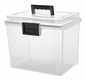 Iris Weather Tight Portable File Box 4 75 Gal Heavy Duty irs110350