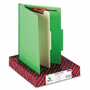 Smead 13702 Green Classification File Folders Letter 8 50 X 11 2