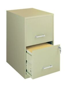 Lorell Soho 18 2 drawer File Cabinet 14 3 X 18 X 24 Plastic Steel 2 X