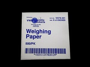 Vwr Weighing Paper Lightweight 6 X 6in Pack Of 500 Pieces 12578 201
