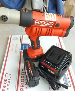 Ridgid Propress Rp 340 With 2 Batteries And Charger