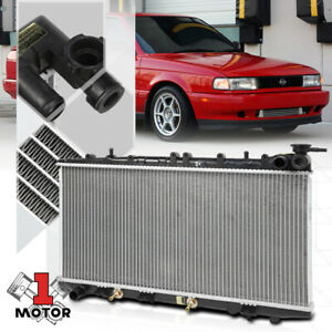 Aluminum Radiator Oe Replacement For 95 98 Nissan 200sx 91 00 Sentra Nx 1 6 I4
