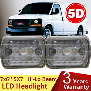 For Gmc Savana 1500 2500 3500 7x6 Led Headlight Crystal Clear Sealed Hi Lo Beam