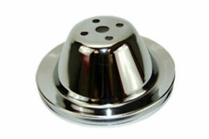 Sbc Chevy 283 350 Chrome Steel Smooth Swp Single Groove Water Pump Pulley