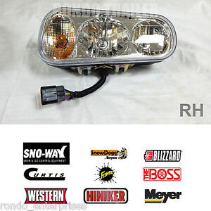 Buyers Replacement Universal Halogen Snow Plow Light R Passenger 1311100r 0