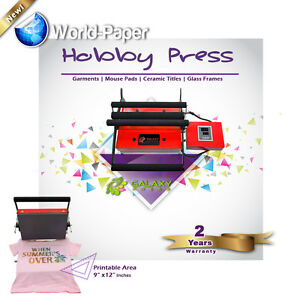 Portable Heat Press Machine 9x12 Inches T Shirts Baby Clothes Sublimation Tags