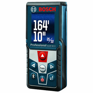 Bosch Glm50 C Bluetooth Enabled Laser Distance Measurer W Color Display