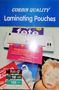 500 Letter 10 Mil Laminating Pouches Laminator Sleeves 9 X 11 1 2 Quality