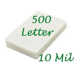 500 Letter 10 Mil Laminating Pouches Laminator Sheets 9 X 11 1 2 Scotch Quality