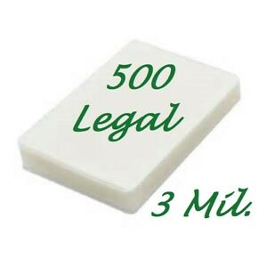 500 Legal 3 Mil Laminating Pouches Laminator Sheets 9 X 14 1 2 Scotch Quality