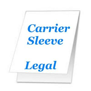 Carrier Sleeve For Laminating Laminator Pouches 2 Pk Legal Size Coated