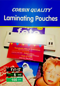 200 Letter 5 Mil Laminating Pouches Laminator Sleeves 9 X 11 1 2 Quality