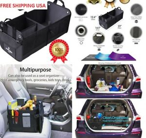 Car Trunk Organizer Vehicle Suv Truck Auto Minivan Heavy Duty Waterproof Bottom