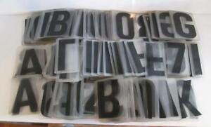 Lot Of 217x 1970 s Changeable Plastic Gulf Marquee Outdoor Signs Numbers Letters