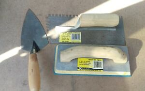 Concrete masonary Tools notch Trowel rubber Float Brick Trowel