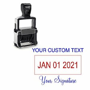 Custom Text With Your Signature Bottom Dater Stamp