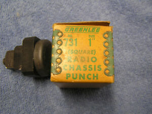 Vintage Greenlee 1 Square Radio Chassis Punch In Very Good Condition