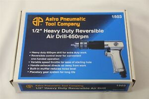 Astro Pneumatic 1 2 In Extra Heavy Duty Reversible Air Drill Brand New 1503