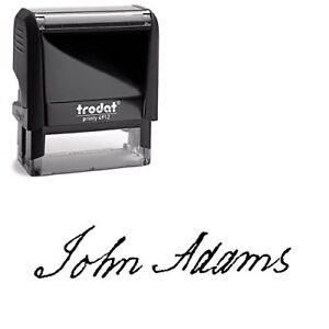 Custom Signature Stamp Upload Your Own Signature Self inking Stamp Black