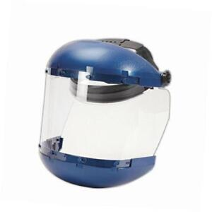 38110 Complete Face Shield With Drop down Ratchet Headgear 8x15 5 Clear 6x19