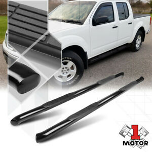 Black 3 Side Step Nerf Bar Running Board For 05 16 Nissan Frontier Crew Cab