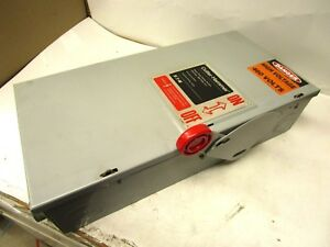 Cutler hammer Dh363fgk Fusible 100a Amp 600v Heavy Duty Safety Switch Disconnect