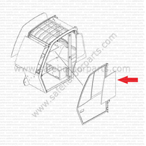 Jlg 1001081236 Telehandler Door Upper Rear Glass