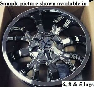 4 New 22 Wheels For Dodge Ram 1500 2013 2014 2015 2016 2017 2018 Rims 1921