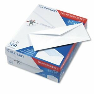 Meadwestvaco Columbian White Security Business Envelope 10 4 12 X co128
