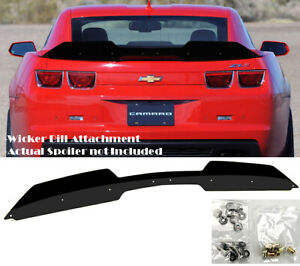 Add On Rear Trunk Decklid Gurney Flap Wicker Bill For 10 13 Camaro Zl1 Spoiler