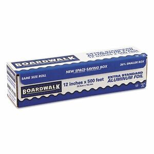 Boardwalk 7110 Premium Quality Aluminum Foil Roll 12 X 500 Ft 16 Micron