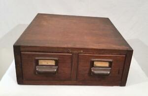 Antique Military Air Force Globe Wernicke 2 Drawer Oak Index Card Cabinet