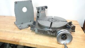 Bridgeport 15 T Slot Rotary Table Hz vt W Support Bracket Tailstock