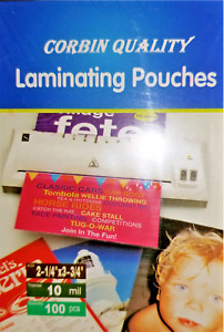 1000 Business Card 10 Mil Laminating Pouches Laminator Sleeves 2 1 4 X 3 3 4