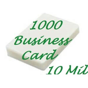 1000 Business Card 10 Mil Laminating Pouches Laminator Sheets 2 1 4 X 3 3 4