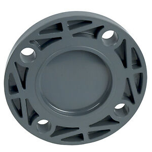 4 Schedule 80 Gray Pvc Blind Flange