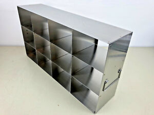 Horizontal Cryobox Freezer Rack For Ultra Low Temperatures Stainless Steel