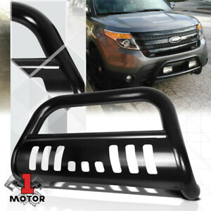 Black 3 Front Bumper Bull Push Bar Brush Grille Guard For 11 16 Ford Explorer