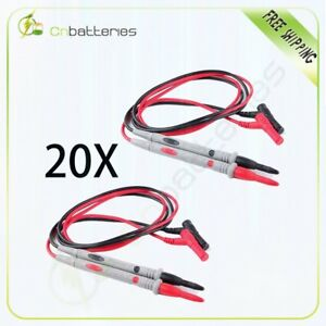 20 Silicone 1000v 20a Multifunction Digital Test Lead Multimeter Probe Cable