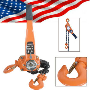 Usa 1 5t 5ft 3000lb Lift Lever Block Hoist Chain Load Ratchet Kit Come Along New